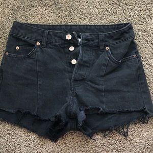 H&M  Black Jean Shorts- US Size 4